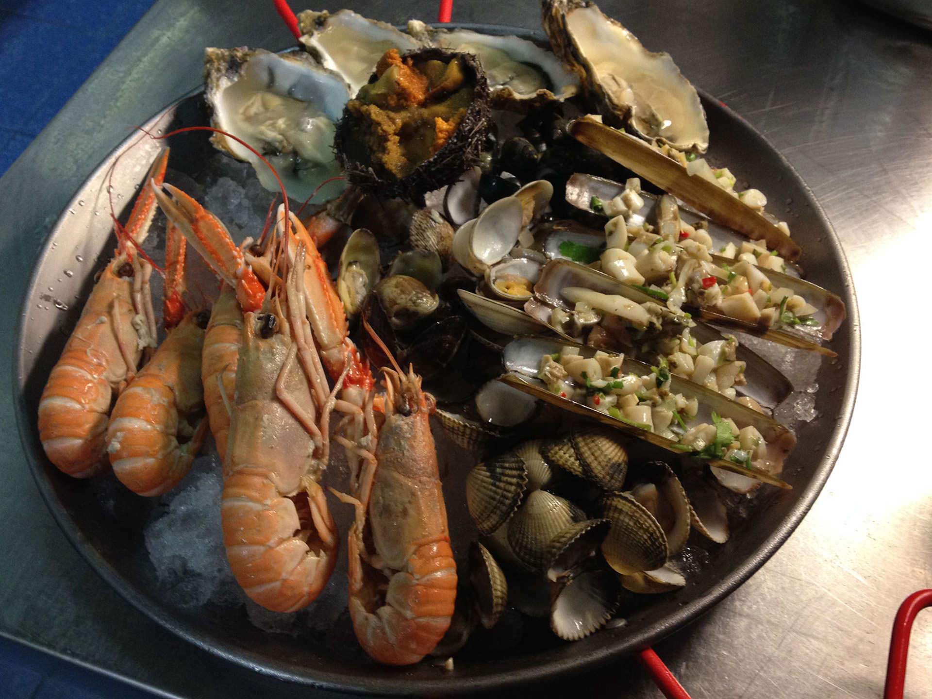 Fruits de mer bereid in de Amstelzaal