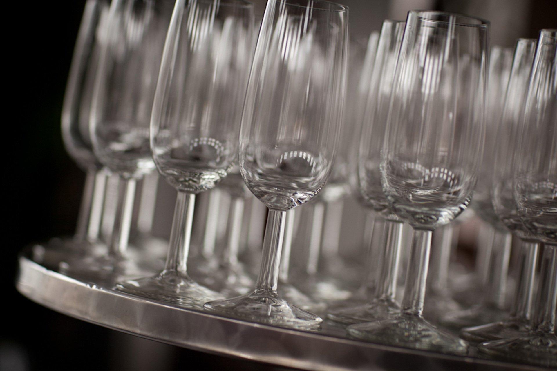Champagne flutes bij de Amstelzaal